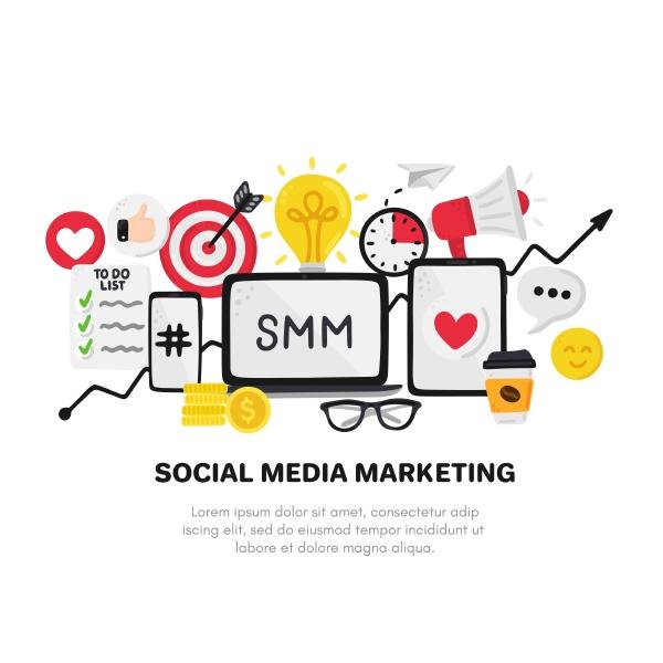 vector smm elements social media
