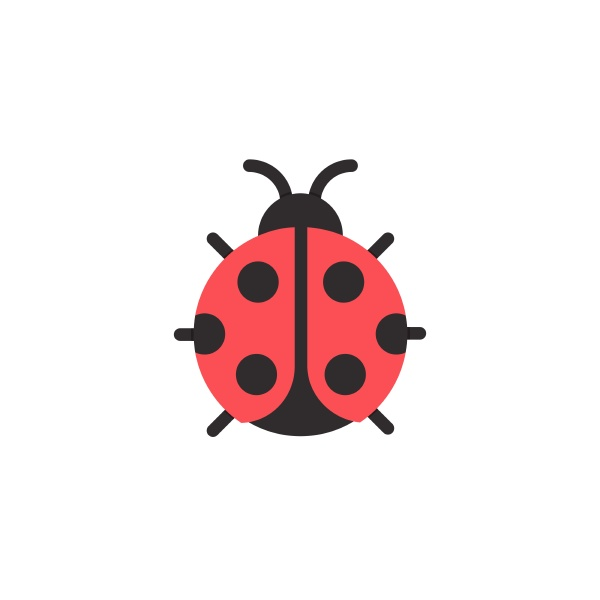 ladybug flat color icon