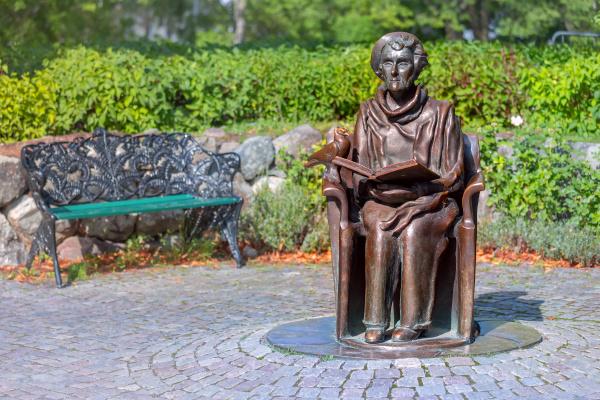 astrid, lindgren, statue, in, stockholm, , sweden - 28238226