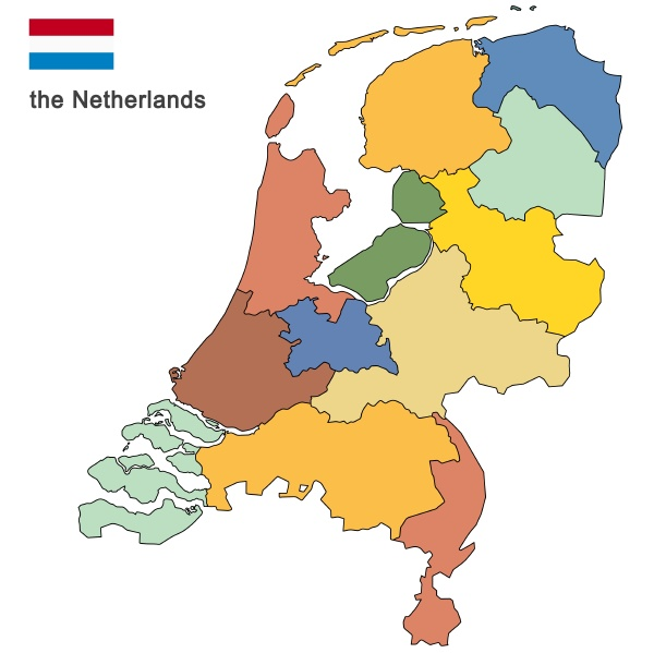 country, the, netherlands, colored - 28238295