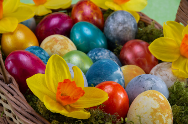 easter, , colored, painted, eggs, in - 28238086