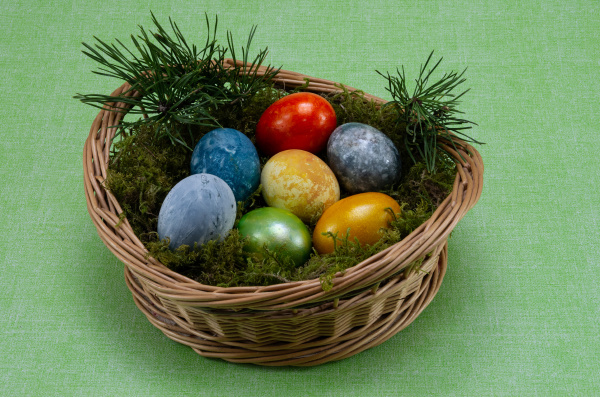 easter, , colored, painted, eggs, in - 28238148