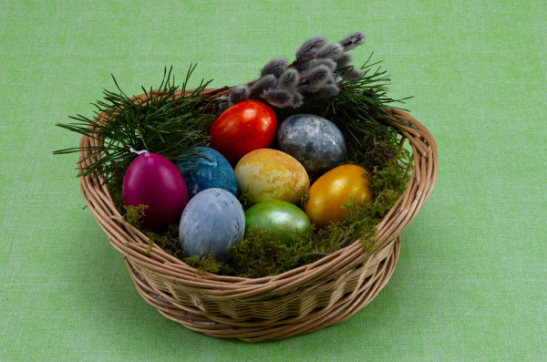 easter, , colored, painted, eggs, in - 28238151