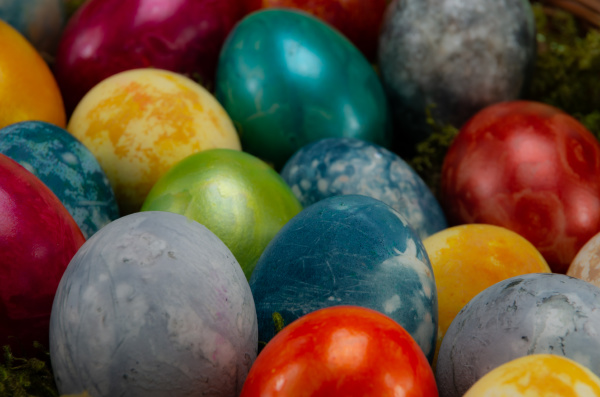 easter, , colored, painted, eggs, with - 28238195