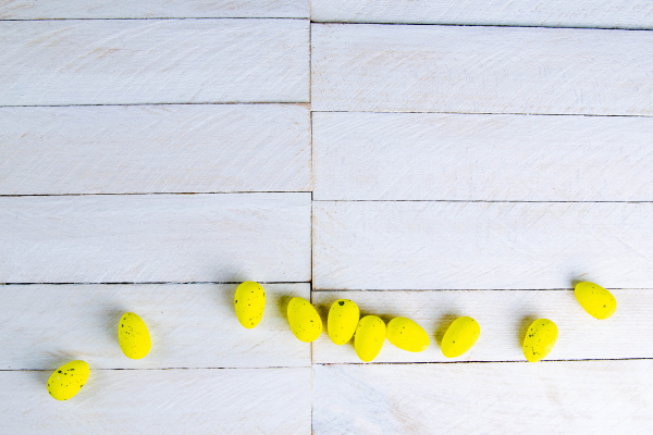 easter, concept., yellow, eggs, stand, on - 28238387