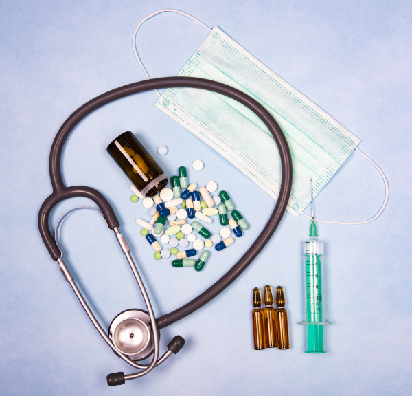 medical, equipment, on, a, blue, paper - 28238206
