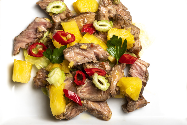 thai, meat, salad, with, pineapple - 28238432