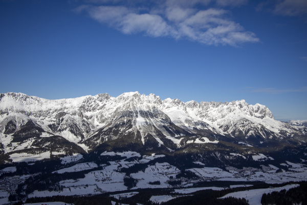 wilder, kaiser, mountain, range, in, winter - 28238434
