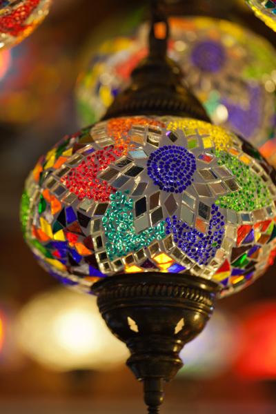 traditional vintage turkish lamp