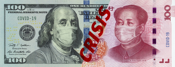 banknotes, of, american, dollars, and, chinese - 28239920