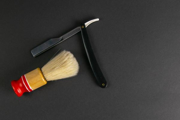 dangerous, razor, and, brush, for, applying - 28239391