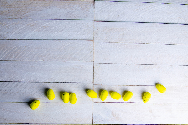 easter, concept., yellow, eggs, stand, on - 28239292