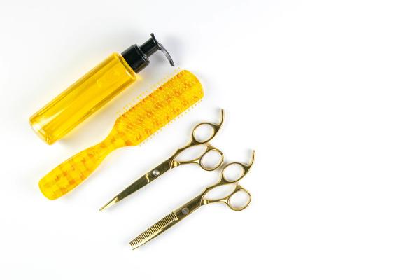 hair, gel, , comb, and, scissors - 28239714