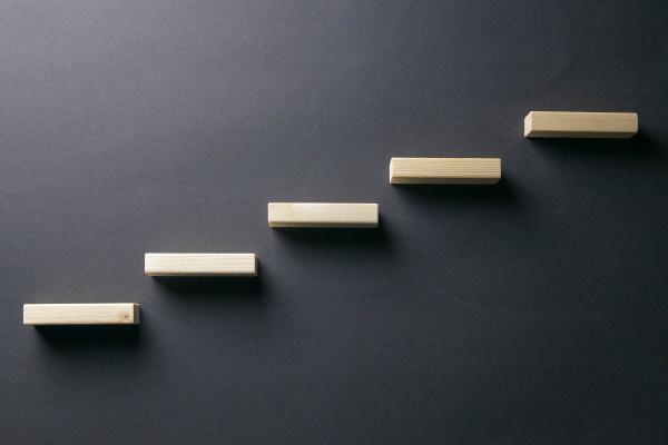 ladder, made, with, wooden, bricks, - 28239663