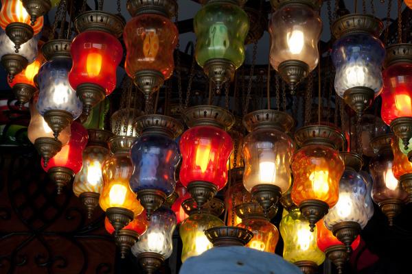 traditional, vintage, turkish, lamp, - 28239355