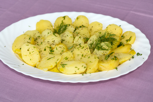 delicious, boiled, potatoes, with, dill, and - 28240268