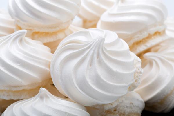 french, vanilla, meringue, cookies, on, white - 28240282