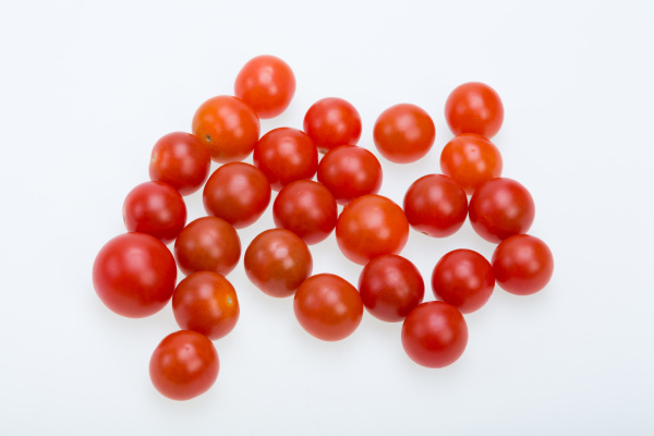 fresh, ripe, cherry, tomatoes, isolated, on - 28240413