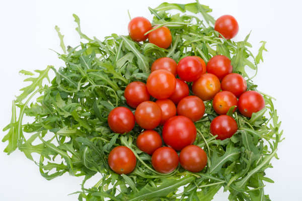 heap, of, ruccola, leaves, and, cherry - 28240402