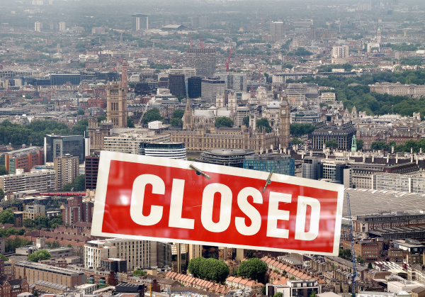london, with, closed, sign - 28240363