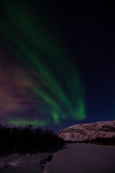 aurora borealis river eibyelva alta norway