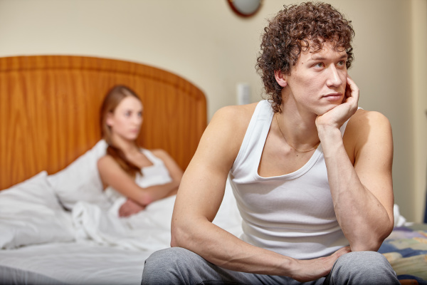 family conflict young couple quarrels in