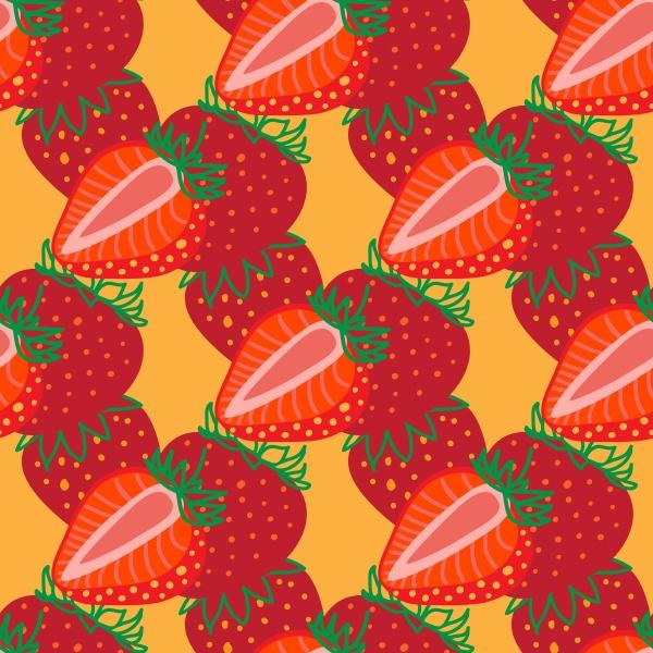 vector seamless pattern of strawberrys design