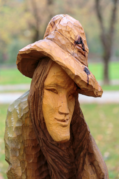 fairy like wooden figures from