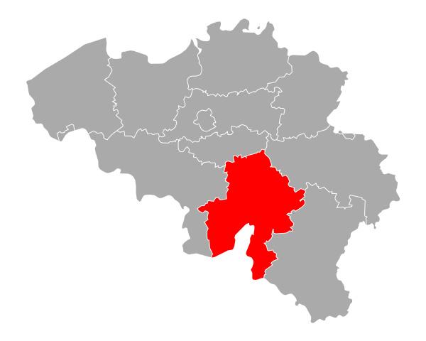 map of namur in belgium