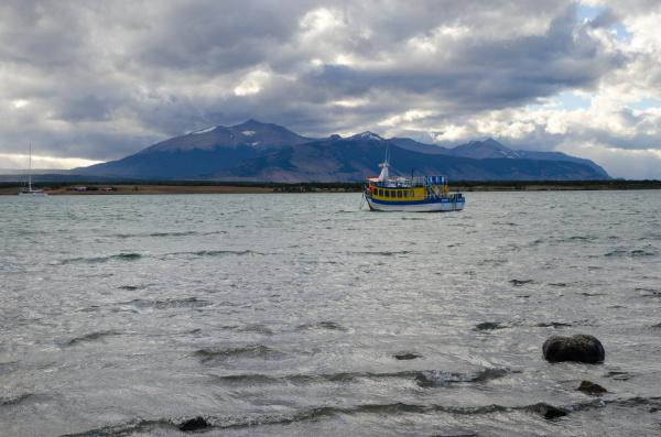 tourist boat in the ultima esperanza