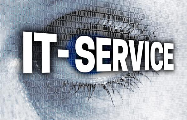 it service eye with matrix looks