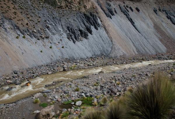 lauca river in the lauca national