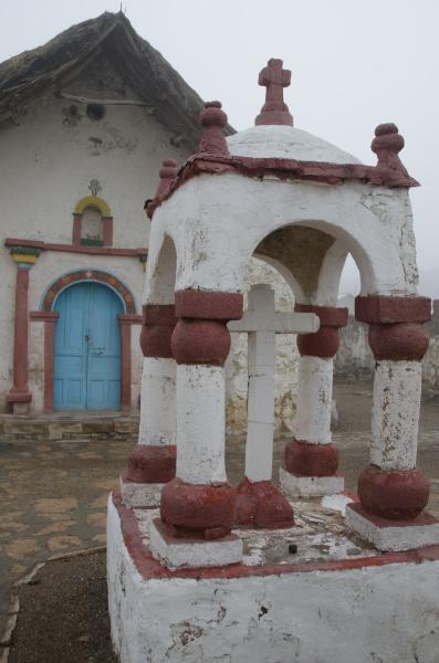 facade of the parinacota church in