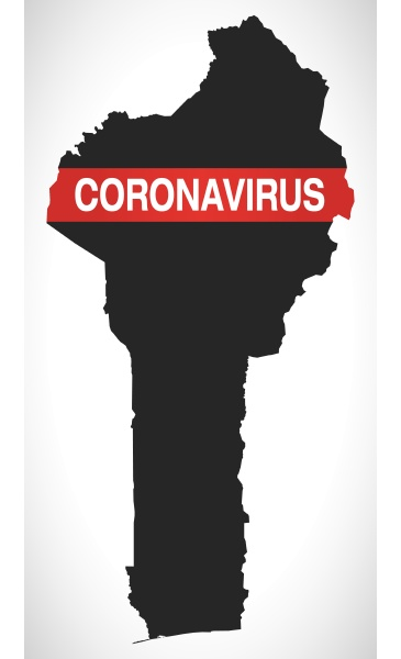 benin, map, with, coronavirus, warning, illustration - 28258896