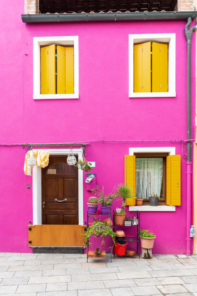 house, in, burano, , venice, after, the - 28258335