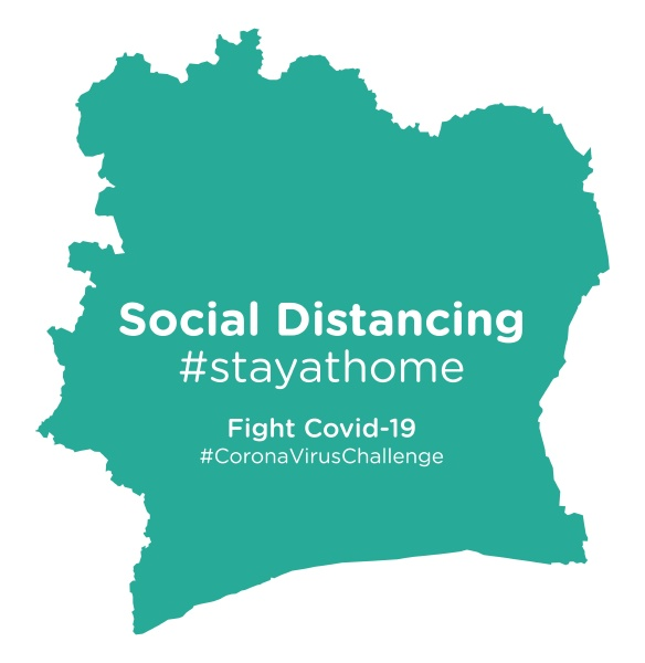 ivory, coast, map, with, social, distancing - 28258977