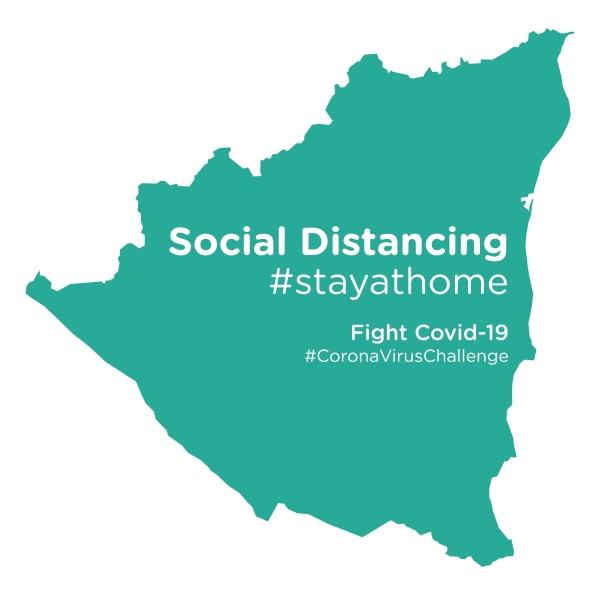 nicaragua, map, with, social, distancing, stayathome - 28258810