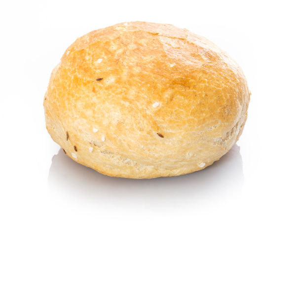 spelt, roll, with, salt, and, caraway - 28258648