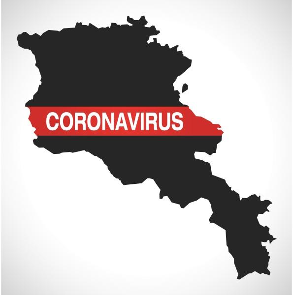 armenia, map, with, coronavirus, warning, illustration - 28259081
