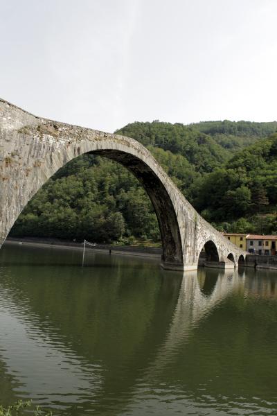 ponte, della, maddalena, across, the, serchio. - 28259087