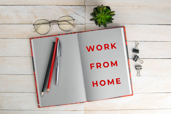 covid 19 work at home concept