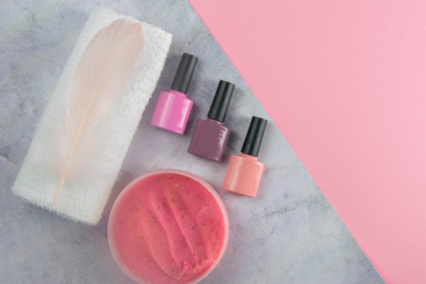 a set of cosmetic tools for