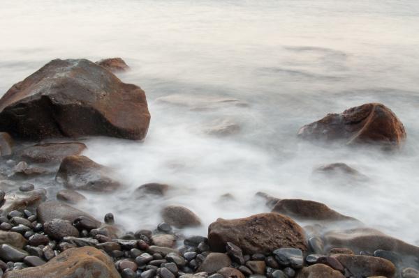 coastal landscape in las playas natural