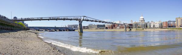 river themse with millenium bridge in