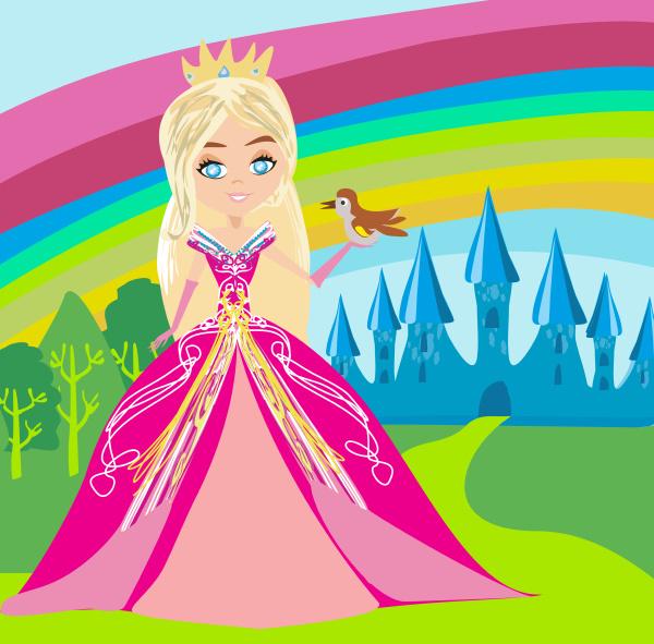 princess with bird