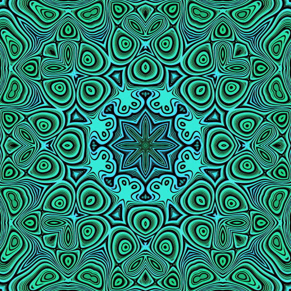 blue green seamless pattern tile