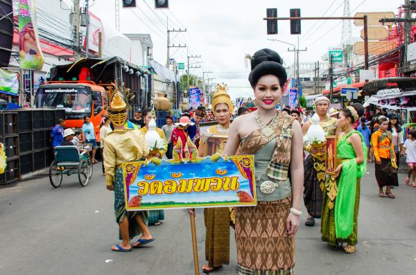 yasothon rocket festival parade leader