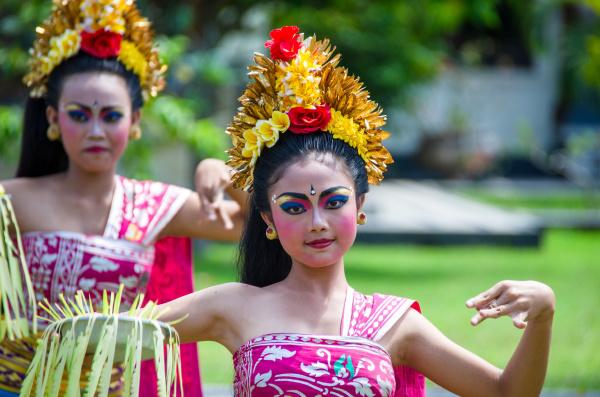 graceful female balinese dancer