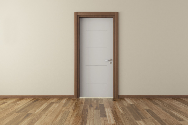 lacquer door with wall rendering