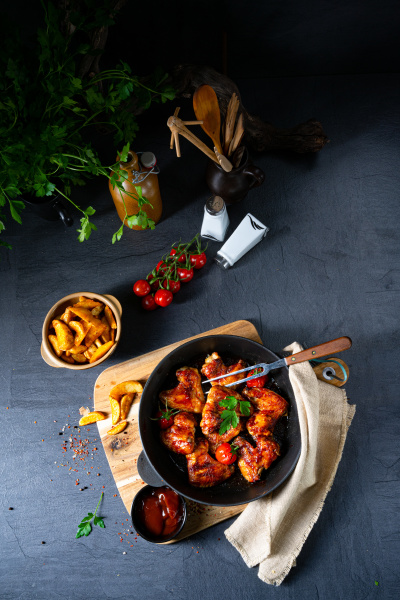 spicy chicken wings in honey with